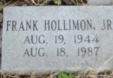 HOLLIMON, FRANK, JR. - Poinsett County, Arkansas | FRANK, JR. HOLLIMON - Arkansas Gravestone Photos