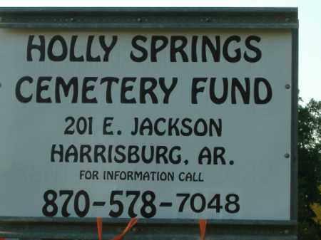 *HOLLY SPRINGS, CEMETERY FUND SIGN - Poinsett County, Arkansas | CEMETERY FUND SIGN *HOLLY SPRINGS - Arkansas Gravestone Photos