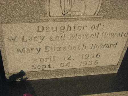 HOWARD, MARY ELIZABETH - Poinsett County, Arkansas | MARY ELIZABETH HOWARD - Arkansas Gravestone Photos