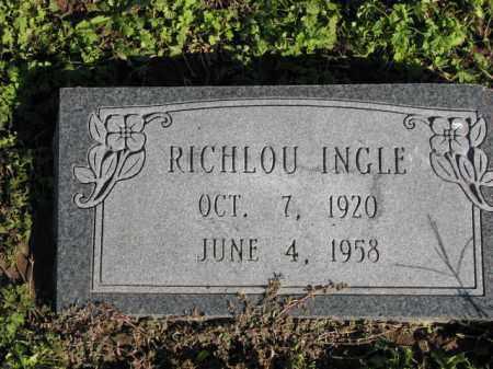 INGLE, RICHLOU - Poinsett County, Arkansas   RICHLOU INGLE - Arkansas Gravestone Photos