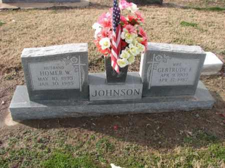JOHNSON, GERTRUDE F. - Poinsett County, Arkansas | GERTRUDE F. JOHNSON - Arkansas Gravestone Photos