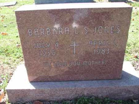 JONES, BARBARA L. S. - Poinsett County, Arkansas   BARBARA L. S. JONES - Arkansas Gravestone Photos