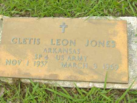 JONES  (VETERAN), CLETIS LEON - Poinsett County, Arkansas   CLETIS LEON JONES  (VETERAN) - Arkansas Gravestone Photos