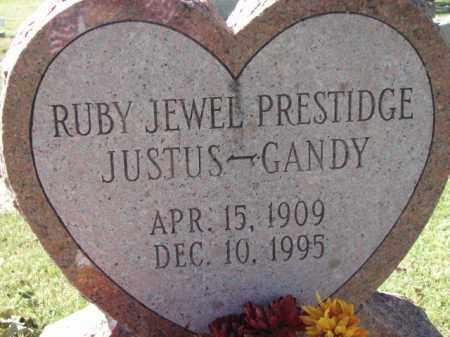 PRESTIDGE JUSTUS-GANDY, RUBY JEWEL - Poinsett County, Arkansas | RUBY JEWEL PRESTIDGE JUSTUS-GANDY - Arkansas Gravestone Photos
