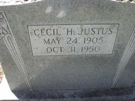 JUSTUS, CECIL H. - Poinsett County, Arkansas | CECIL H. JUSTUS - Arkansas Gravestone Photos