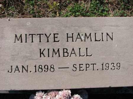 KIMBALL, MITTYE - Poinsett County, Arkansas | MITTYE KIMBALL - Arkansas Gravestone Photos