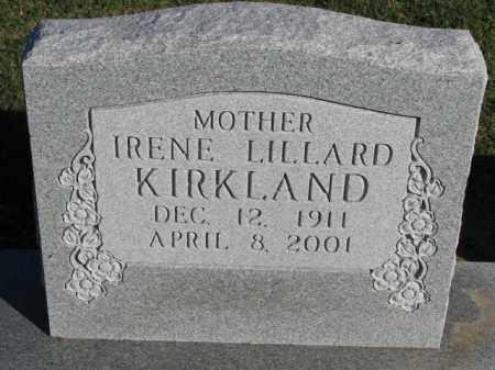KIRKLAND, IRENE - Poinsett County, Arkansas | IRENE KIRKLAND - Arkansas Gravestone Photos