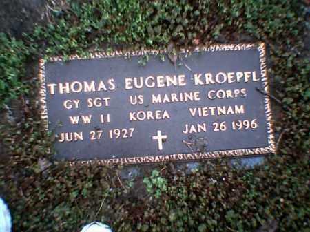 KROEPFL (VETERAN 3 WARS), THOMAS EUGENE - Poinsett County, Arkansas   THOMAS EUGENE KROEPFL (VETERAN 3 WARS) - Arkansas Gravestone Photos