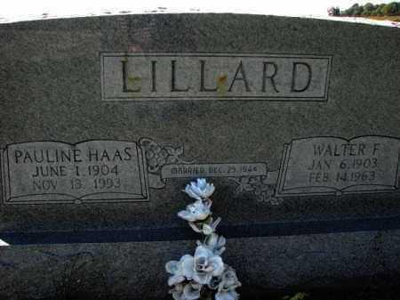 HAAS LILLARD, PAULINE - Poinsett County, Arkansas   PAULINE HAAS LILLARD - Arkansas Gravestone Photos