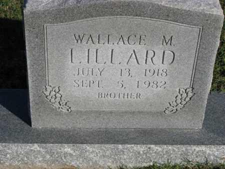LILLARD, WALLACE M. - Poinsett County, Arkansas | WALLACE M. LILLARD - Arkansas Gravestone Photos