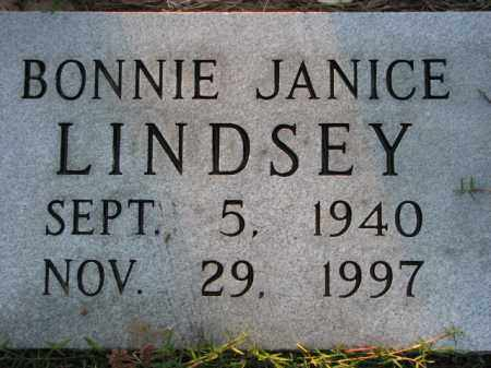 LINDSEY, BONNIE JANICE - Poinsett County, Arkansas | BONNIE JANICE LINDSEY - Arkansas Gravestone Photos