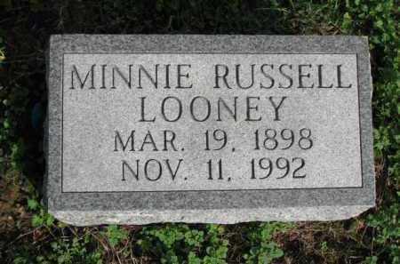 RUSSELL LOONEY, MINNIE - Poinsett County, Arkansas   MINNIE RUSSELL LOONEY - Arkansas Gravestone Photos