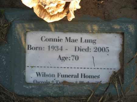 LUNG, CONNIE MAE - Poinsett County, Arkansas | CONNIE MAE LUNG - Arkansas Gravestone Photos
