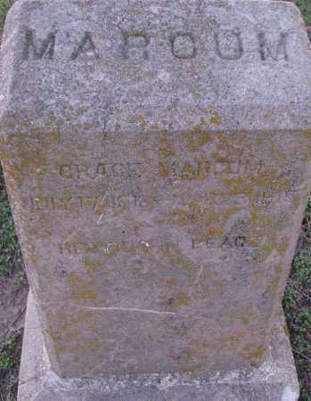MARCUM, GRACE - Poinsett County, Arkansas   GRACE MARCUM - Arkansas Gravestone Photos
