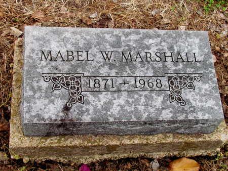 MARSHALL, MABEL W. - Poinsett County, Arkansas | MABEL W. MARSHALL - Arkansas Gravestone Photos