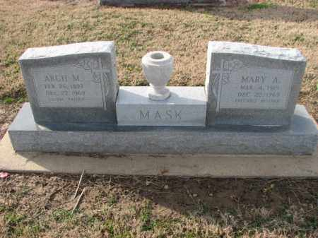 MASK, ARCH M. - Poinsett County, Arkansas   ARCH M. MASK - Arkansas Gravestone Photos