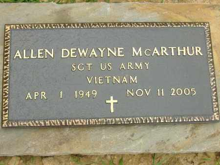 MCARTHUR  (VETERAN VIET), ALLEN DEWAYNE - Poinsett County, Arkansas | ALLEN DEWAYNE MCARTHUR  (VETERAN VIET) - Arkansas Gravestone Photos