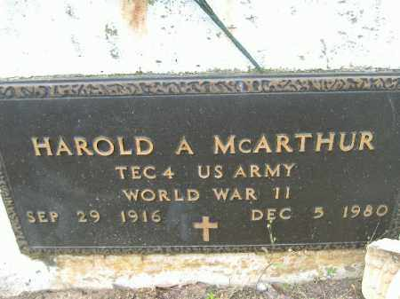 MCARTHUR  (VETERAN WWII), HAROLD A - Poinsett County, Arkansas   HAROLD A MCARTHUR  (VETERAN WWII) - Arkansas Gravestone Photos