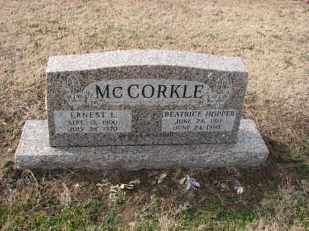 MCCORKLE, BEATRICE - Poinsett County, Arkansas | BEATRICE MCCORKLE - Arkansas Gravestone Photos