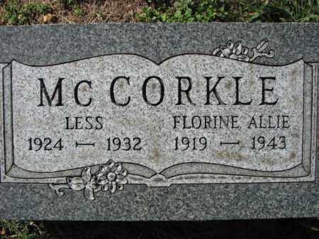 MCCORKLE, FLORINE ALLIE - Poinsett County, Arkansas | FLORINE ALLIE MCCORKLE - Arkansas Gravestone Photos