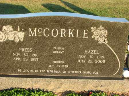 MCCORKLE, PRESS - Poinsett County, Arkansas | PRESS MCCORKLE - Arkansas Gravestone Photos