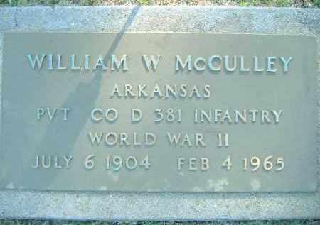 MCCULLEY  (VETERAN WWII), WILLIAM W. - Poinsett County, Arkansas | WILLIAM W. MCCULLEY  (VETERAN WWII) - Arkansas Gravestone Photos