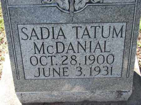 MCDANIAL, SADIA - Poinsett County, Arkansas | SADIA MCDANIAL - Arkansas Gravestone Photos