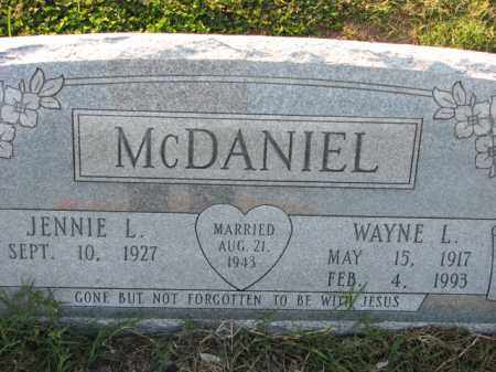 MCDANIEL, WAYNE L. - Poinsett County, Arkansas | WAYNE L. MCDANIEL - Arkansas Gravestone Photos