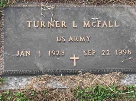 MCFALL (VETERAN), TURNER L - Poinsett County, Arkansas | TURNER L MCFALL (VETERAN) - Arkansas Gravestone Photos