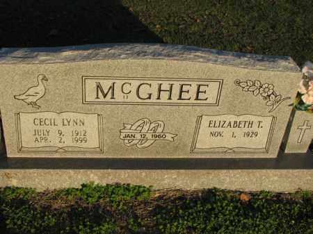 MCGHEE, CECIL LYNN - Poinsett County, Arkansas | CECIL LYNN MCGHEE - Arkansas Gravestone Photos