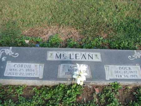 MCLEAN, CORDIE - Poinsett County, Arkansas | CORDIE MCLEAN - Arkansas Gravestone Photos