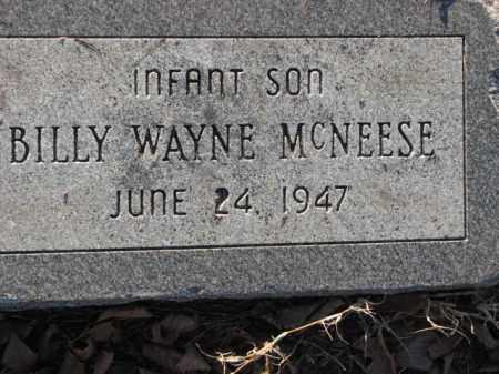 MCNEESE, BILLY WAYNE - Poinsett County, Arkansas   BILLY WAYNE MCNEESE - Arkansas Gravestone Photos