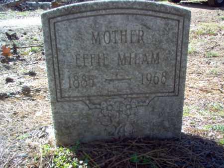 MILAM, EFFIE - Poinsett County, Arkansas | EFFIE MILAM - Arkansas Gravestone Photos