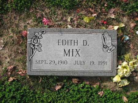 MIX, EDITH D. - Poinsett County, Arkansas | EDITH D. MIX - Arkansas Gravestone Photos