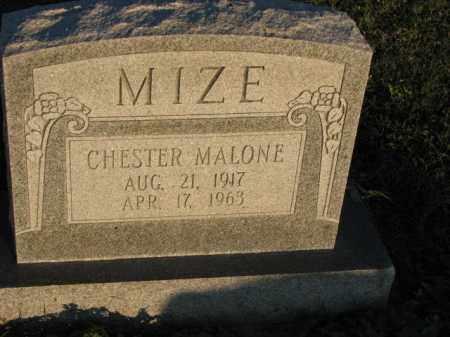MIZE, CHESTER MALONE - Poinsett County, Arkansas   CHESTER MALONE MIZE - Arkansas Gravestone Photos