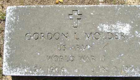 MOLDER  (VETERAN WWI), GORDON L. - Poinsett County, Arkansas | GORDON L. MOLDER  (VETERAN WWI) - Arkansas Gravestone Photos