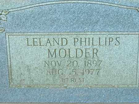 MOLDER, LELAND PHILLIPS - Poinsett County, Arkansas | LELAND PHILLIPS MOLDER - Arkansas Gravestone Photos
