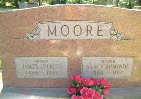 MOORE, NANCY ARMINDA - Poinsett County, Arkansas | NANCY ARMINDA MOORE - Arkansas Gravestone Photos