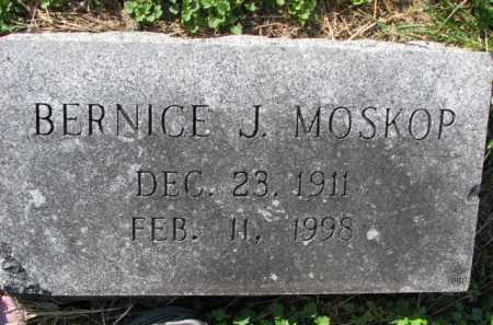 MOSKOP, BERNICE J. - Poinsett County, Arkansas | BERNICE J. MOSKOP - Arkansas Gravestone Photos
