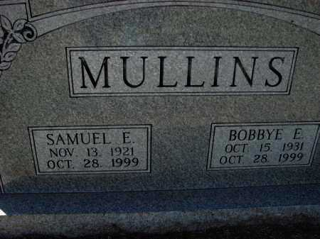 MULLINS, SAMUEL E. - Poinsett County, Arkansas | SAMUEL E. MULLINS - Arkansas Gravestone Photos
