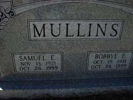 MULLINS, BOBBYE E. - Poinsett County, Arkansas | BOBBYE E. MULLINS - Arkansas Gravestone Photos