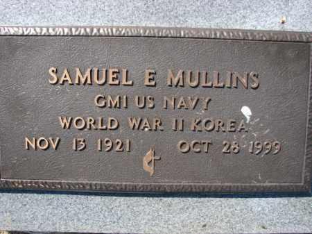 MULLINS (VETERAN 2 WARS), SAMUEL E - Poinsett County, Arkansas   SAMUEL E MULLINS (VETERAN 2 WARS) - Arkansas Gravestone Photos