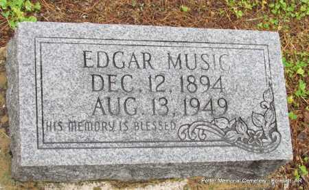 MUSIC, EDGAR - Poinsett County, Arkansas   EDGAR MUSIC - Arkansas Gravestone Photos