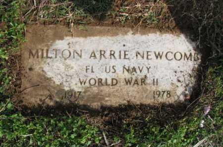 NEWCOMB (VETERAN WWII), MILTON ARRIE - Poinsett County, Arkansas   MILTON ARRIE NEWCOMB (VETERAN WWII) - Arkansas Gravestone Photos
