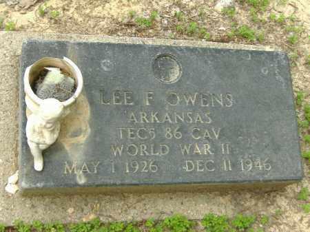 OWENS  (VETERAN WWII), LEE F - Poinsett County, Arkansas   LEE F OWENS  (VETERAN WWII) - Arkansas Gravestone Photos
