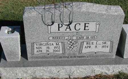 PACE, VIRGINIA M. - Poinsett County, Arkansas | VIRGINIA M. PACE - Arkansas Gravestone Photos