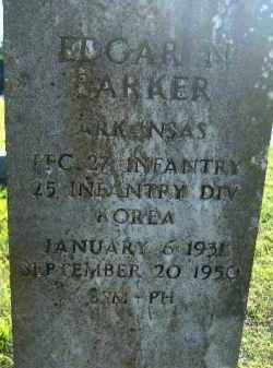 PARKER  (VETERAN KOR), EDGAR J. - Poinsett County, Arkansas | EDGAR J. PARKER  (VETERAN KOR) - Arkansas Gravestone Photos