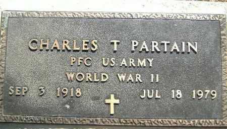 PARTAIN  (VETERAN WWII), CHARLES T. - Poinsett County, Arkansas   CHARLES T. PARTAIN  (VETERAN WWII) - Arkansas Gravestone Photos