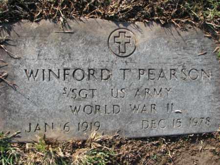 PEARSON (VETERAN WWII), WINFORD T - Poinsett County, Arkansas   WINFORD T PEARSON (VETERAN WWII) - Arkansas Gravestone Photos