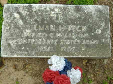 PECK  (VETERAN CSA), TILMAN H - Poinsett County, Arkansas   TILMAN H PECK  (VETERAN CSA) - Arkansas Gravestone Photos